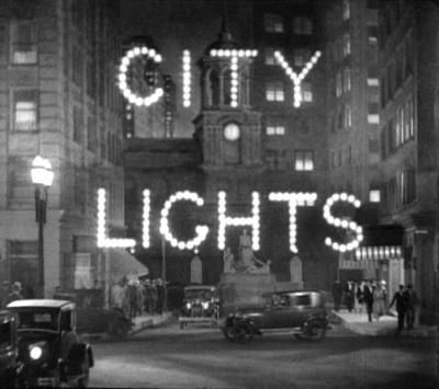 """Кадр из фильма """"Огни большого города"""", реж. Чарли Чаплин"""