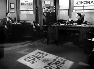 "Кадр из фильма ""Мальтийский сокол"", реж. Джон Хьюстон"