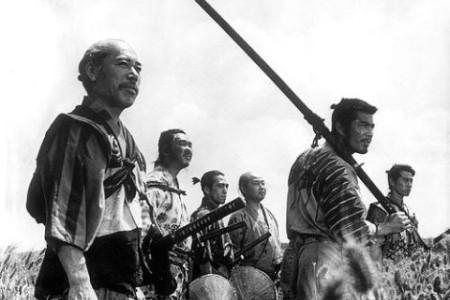"Кадр из фильма ""Семь самураев"", реж. Акира Куросава"